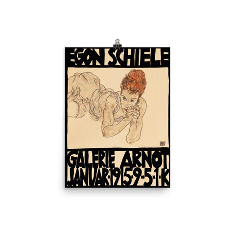 Egon Schielle, Exhibition Museum Poster, 1915, Vintage Expressionism, Print Wall Decor Gift.