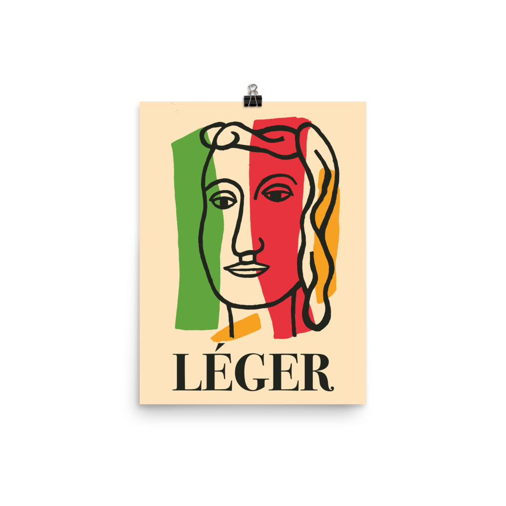 Fernand Léger, Exhibition Poster, Vintage Art Print Wall Decor, Fine Wall Art Gift