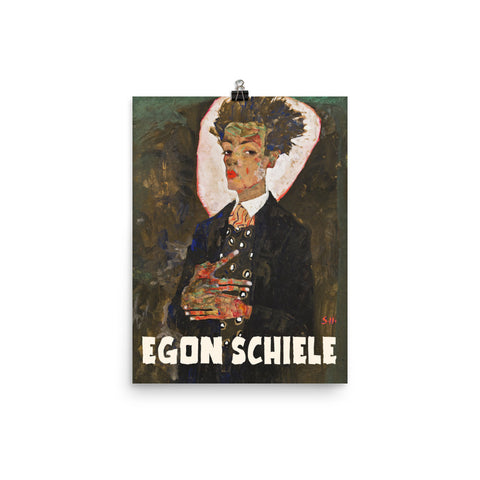 Egon Schielle, Exhibition Poster, Art Print Wall Decor, Fine Art Gift