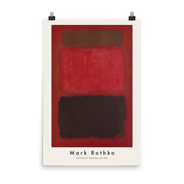 "Mark Rothko, 1957, Exhibition Poster, ""Browns and Blacks in Red"", Vintage Art Print Wall Decor, Fine Wall Art Gift"