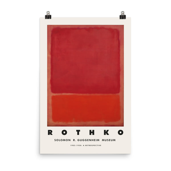 Mark Rothko, 1969, Abstract Exhibition Poster, Minimalizm Art Print Poster, Vintage Art Print Wall Decor, Fine Wall Art Gift.