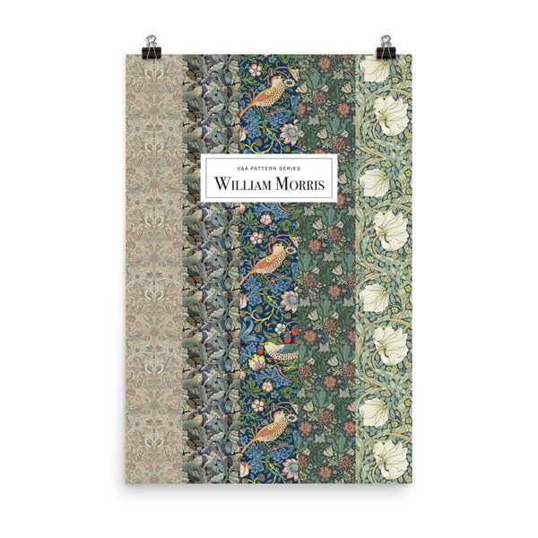 William Morris, Poster of Design Patterns, Vintage Art Print Wall Decor, Fine Wall Art Gift.