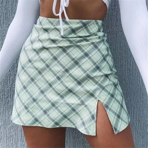 Green Plaid Vintage Skirt