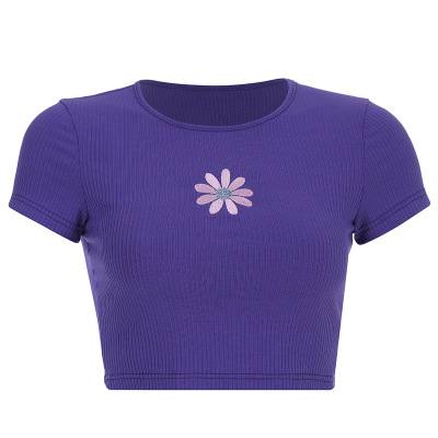 Purple Flower Top 🌸