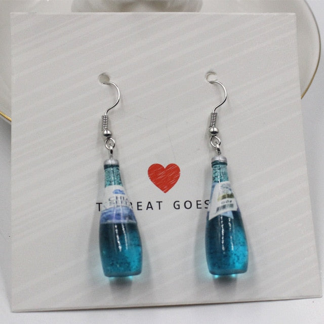 Blue Champagne Earrings