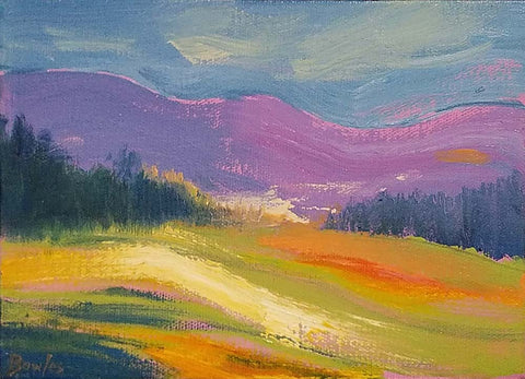 Light in the Valley - Original Painting, 6x8in.