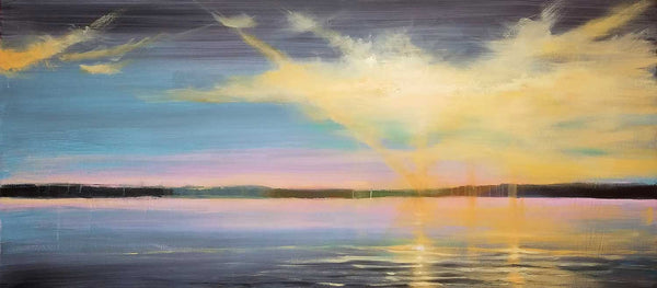 River Wide 2 - Original Painting, 38x80in.