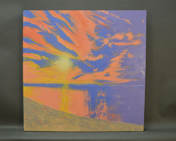 Coral Twilight - Original Painting, 24x24in.