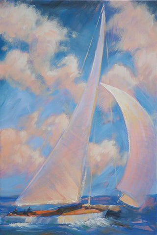 Sailing Away Print - 24x36 in. or 12x18 in.