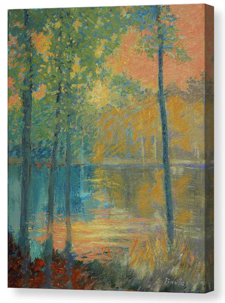 Warm Light NC Pond PRINT - 16x20 in.