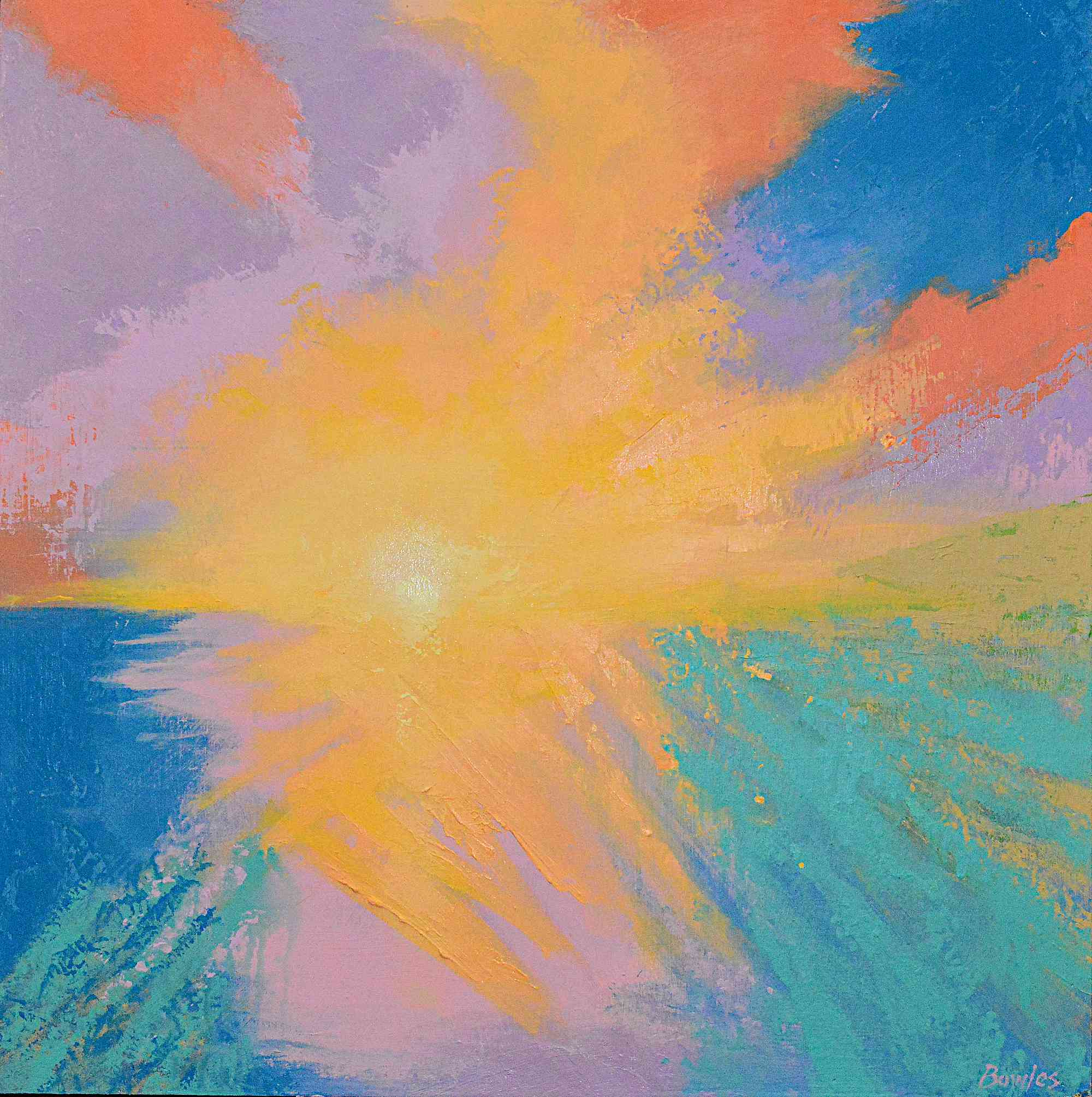 Sunrise Light - Original Painting, 24x24in.