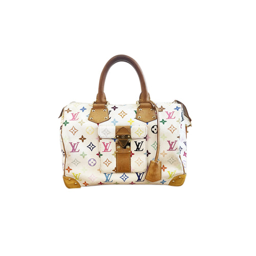 Borsa Louis vuitton edizione limitata modello speedy 30 multicolor - Montevago Luxury Bags
