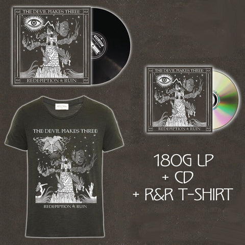 Redemption & Ruin Bundle #3 (CD + Vinyl + Digital Download + Tee Shirt )