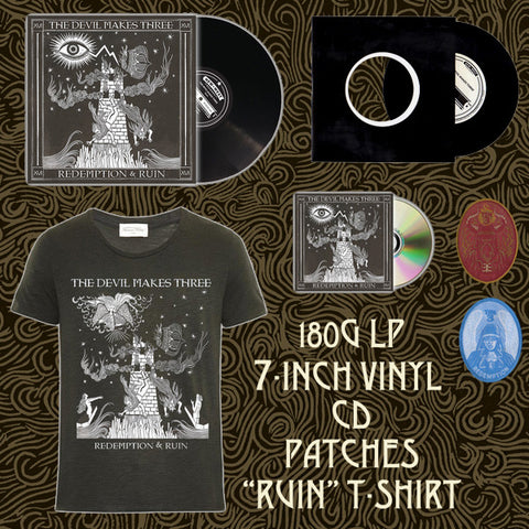 Redemption & Ruin Boxset (CD +  Vinyl + Digital Download + 7in Vinyl + Tee Shirt + Redemption & Ruin Patches + Exclusive Packaging)