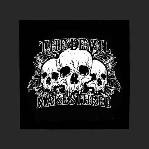 three skulls canvas patch