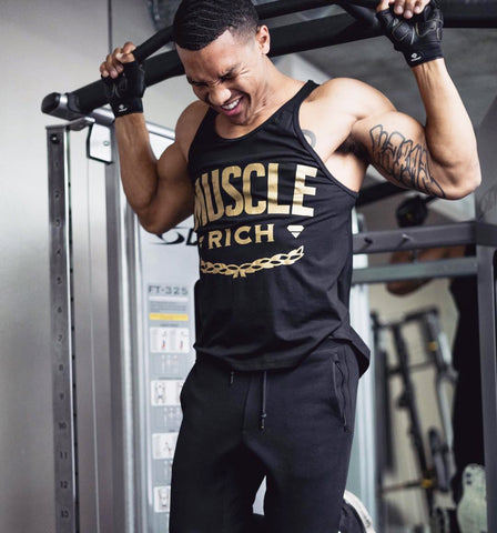 LVXX SWISH TANK (Gold/Black) - MUSCLERICH ATHLETICS