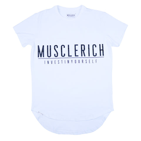 """VICTORY"" V3 Men's Tee (White) - MUSCLERICH ATHLETICS"