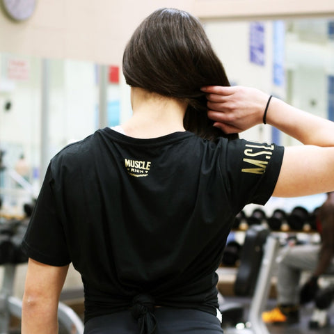 Womens Ultralite Victory Tee ( GOLD ) - MUSCLERICH ATHLETICS
