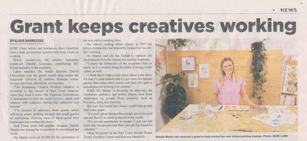 Press Shout Out: Surf Coast Times August 2020