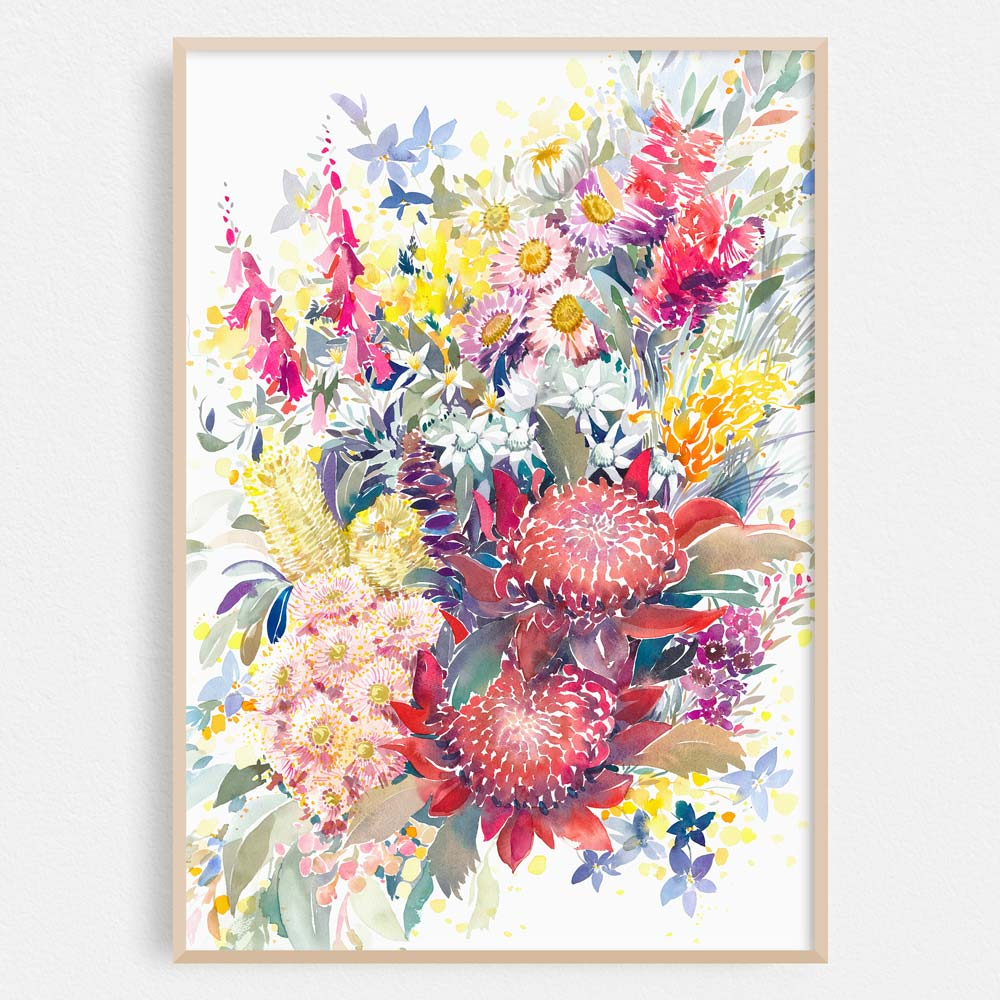 'A Year in Bloom' Birth Flower Art Print