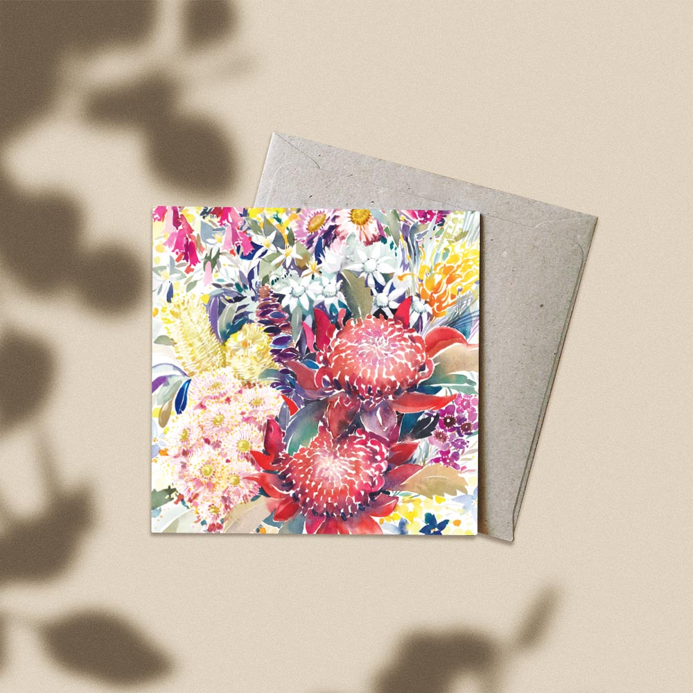 'A Year in Bloom' Greeting Card