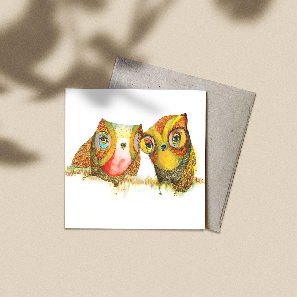 'The Confidante' Greeting Card