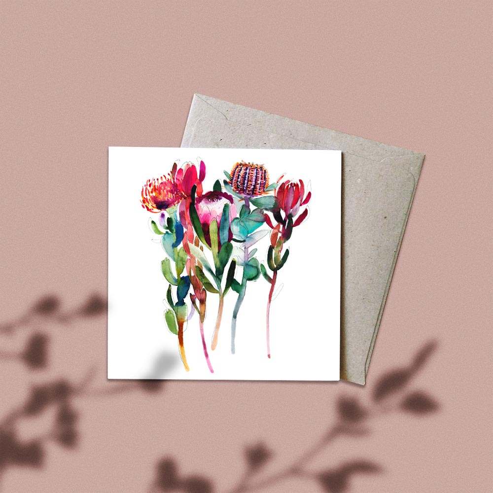 'The Flower Thief' Greeting Card
