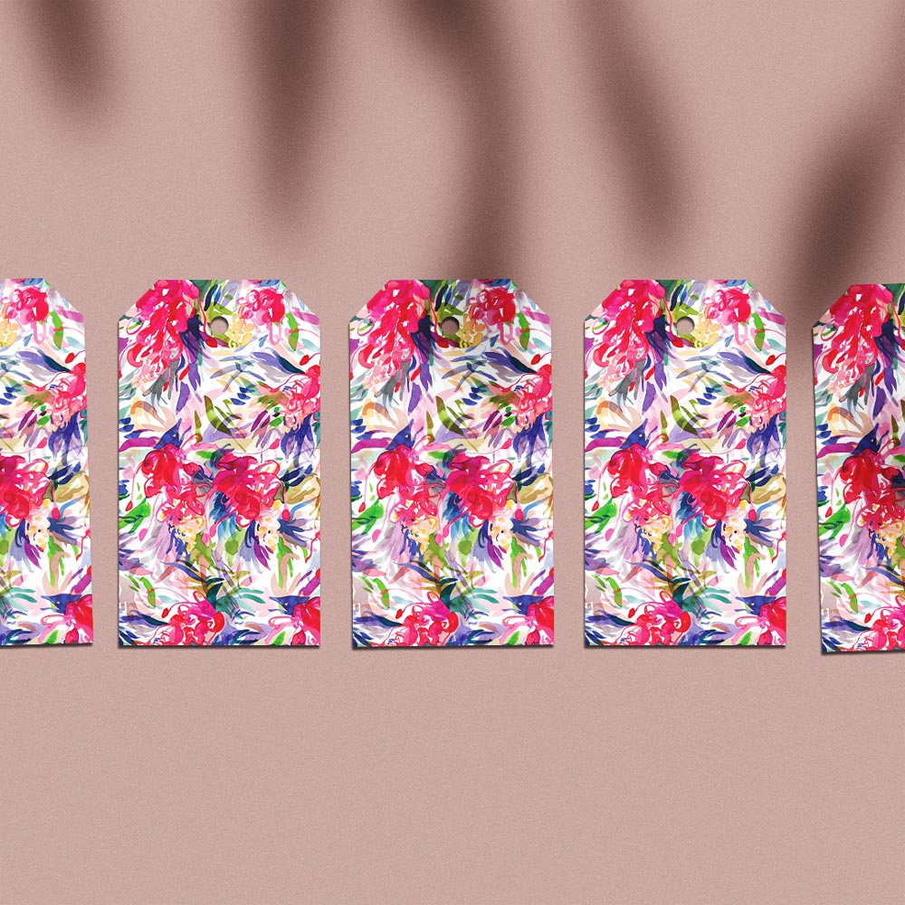 'Full Bloom' Gift Tag Pack of 5