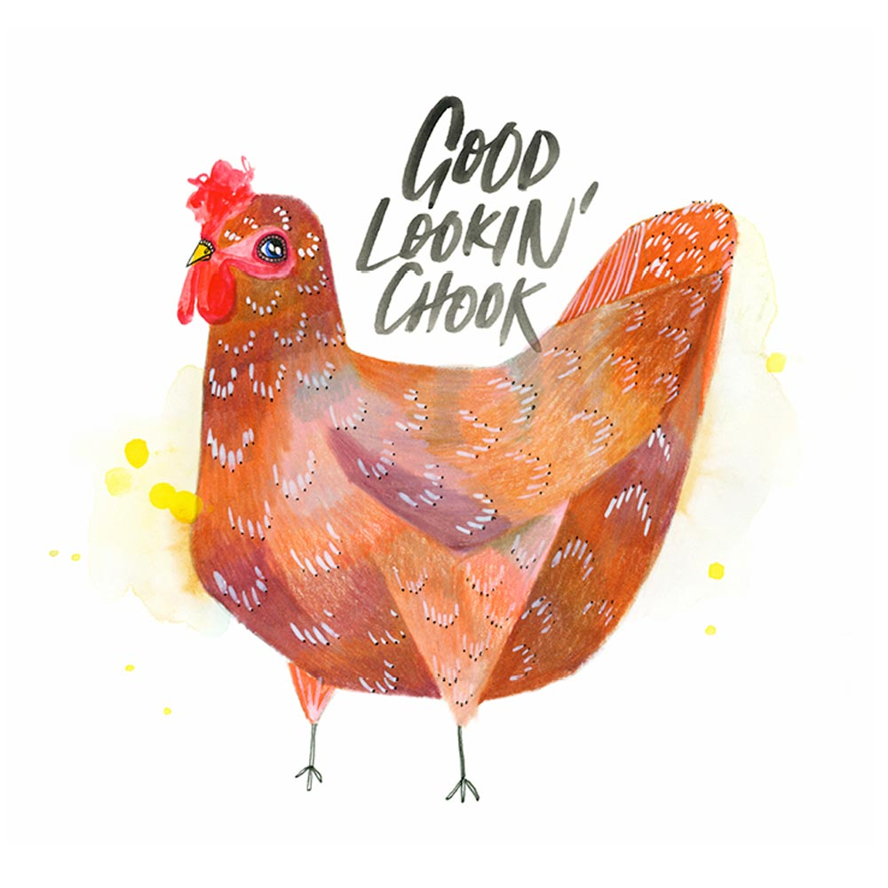 'Good Lookin' Chook' Greeting Card
