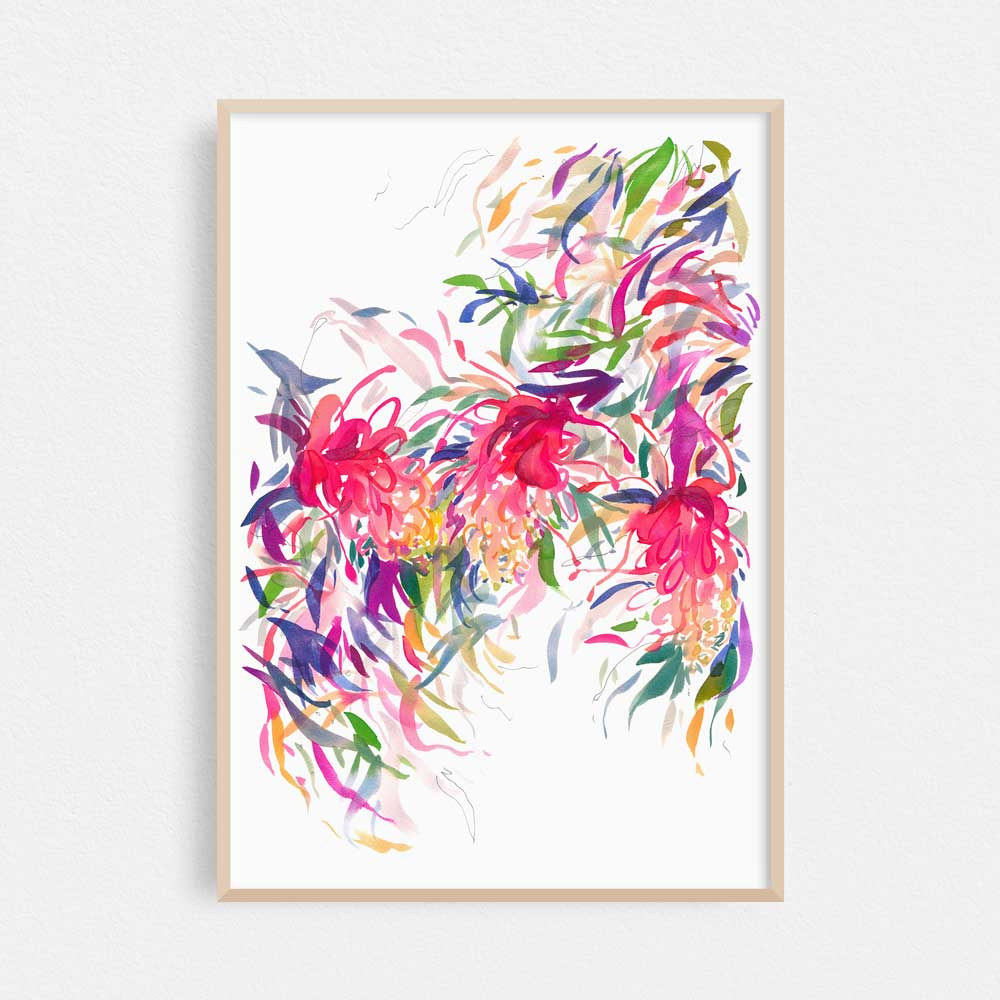'Grevillea Trio' Limited Edition Print