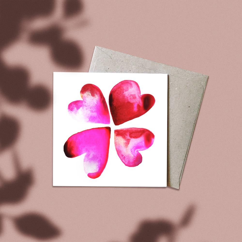 'Lucky in Love' Greeting Card
