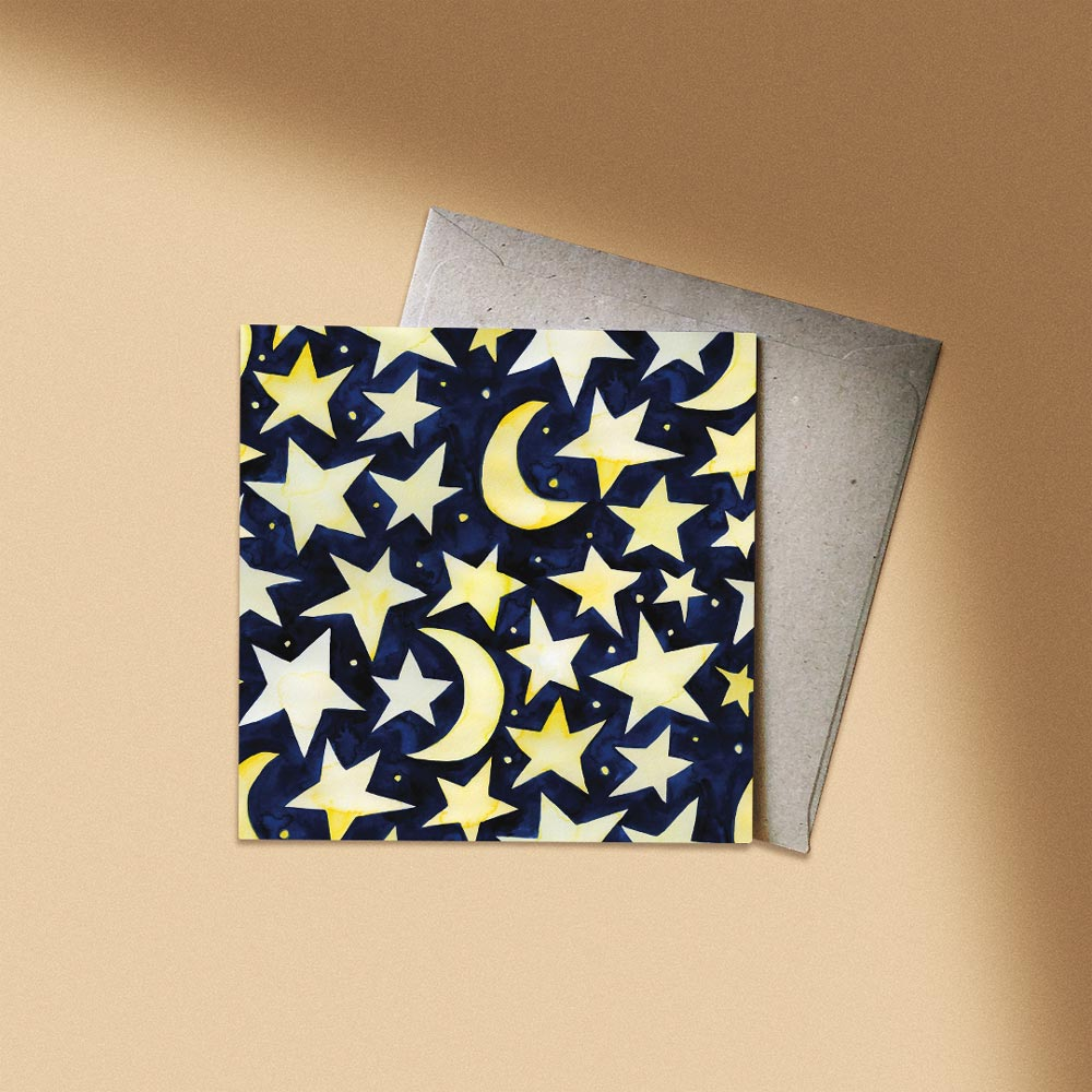 'Lucky Stars' Greeting Card