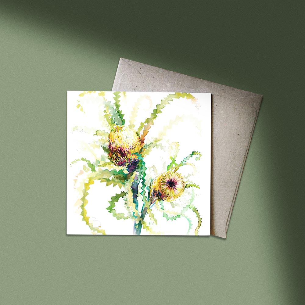 'The Neighbour's Neighbour Banksia' Greeting Card