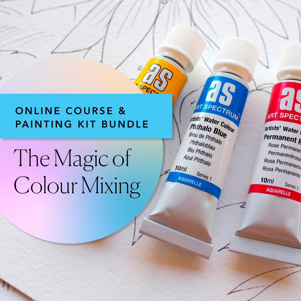 'Magic of Colour Mixing' Online Course and Colour Mixing Paint Kit Bundle