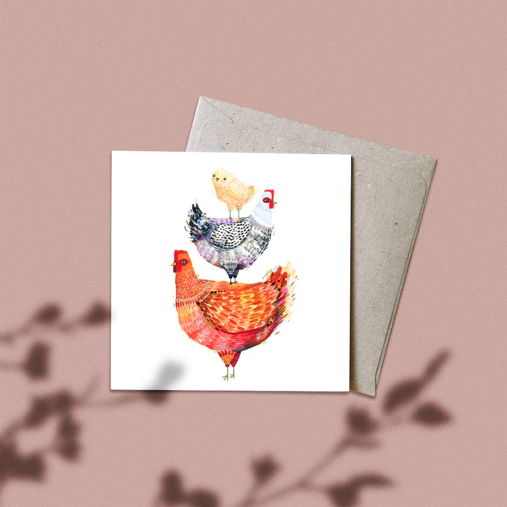 'The Pecking Order' Greeting Card
