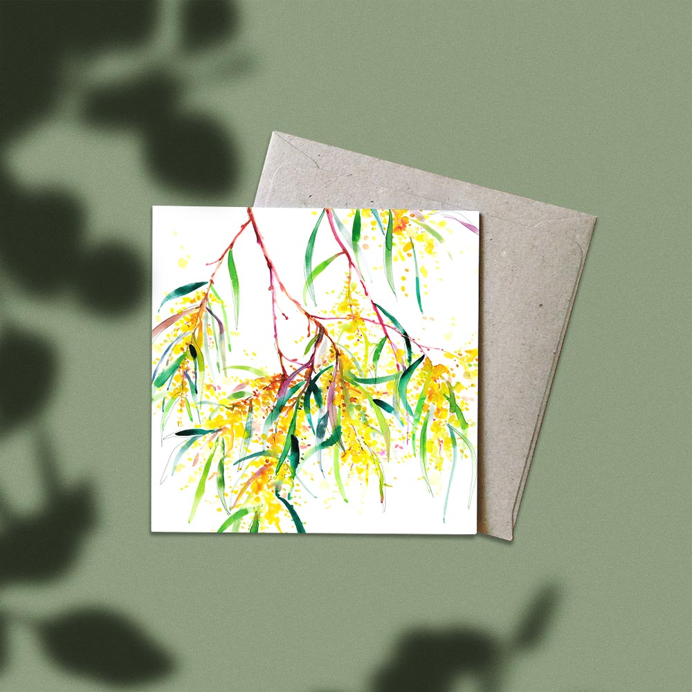 'Roadside Wattle' Greeting Card