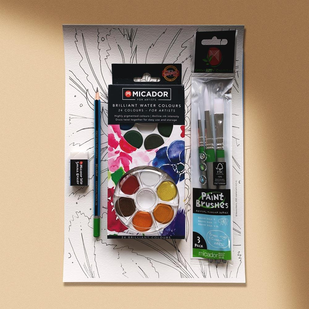 'Welcome to Watercolour' Online Course and Painting Kit Bundle