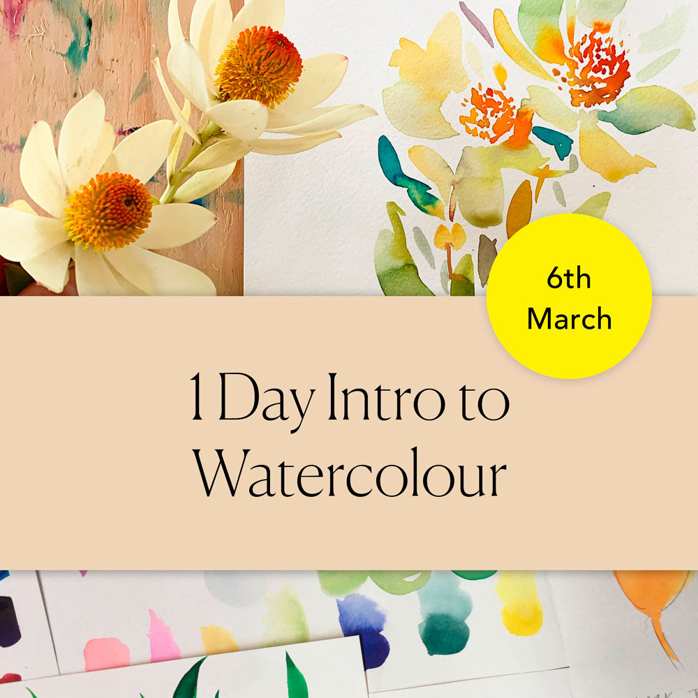 1 Day Intro to Watercolour Workshop - 6 March - Torquay