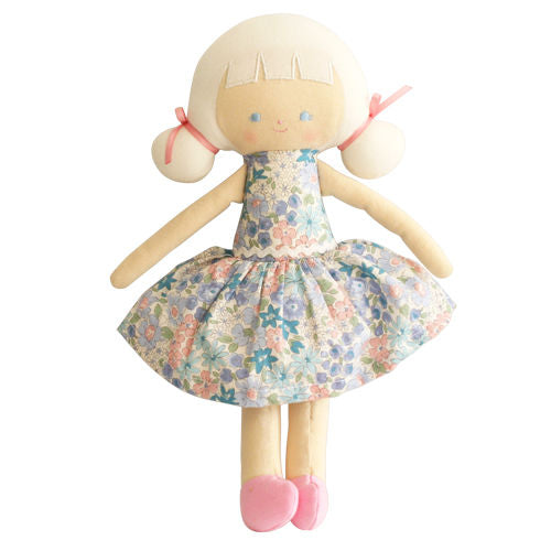 Audrey Doll in Liberty Blue Fabric from Alimrose