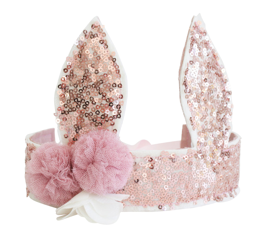 Bunny Ears adjustable Headband - Rose