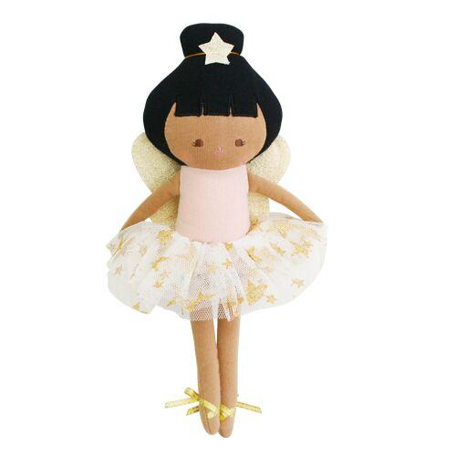 Baby Fairy Doll in Pink Linen from Alimrose