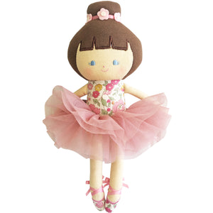 Love Your Baby Ballerina Doll in Rose Garden by Alimrose