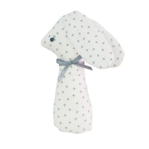 Bunny Rattle Grey Cross - SALE
