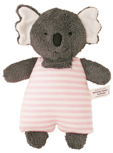 Koala Toy Rattle in pink stripe by Alimrose