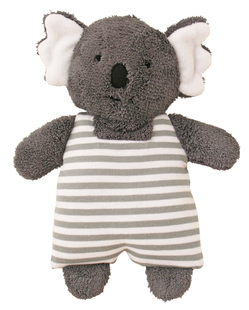 Koala Toy Rattle in grey stripe by Alimrose