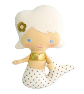 Mermaid Rattle Doll in Gold spot by Alimrose
