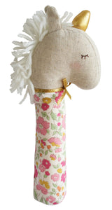 Yvette Unicorn Squeaker in Rose Garden by Alimrose