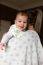 Load image into Gallery viewer, 2pk Bibs Mint Elephants and Stars by The Little Linen Company