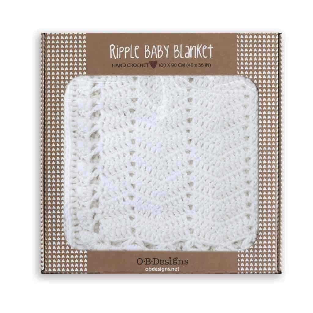 Ripple Blanket in White