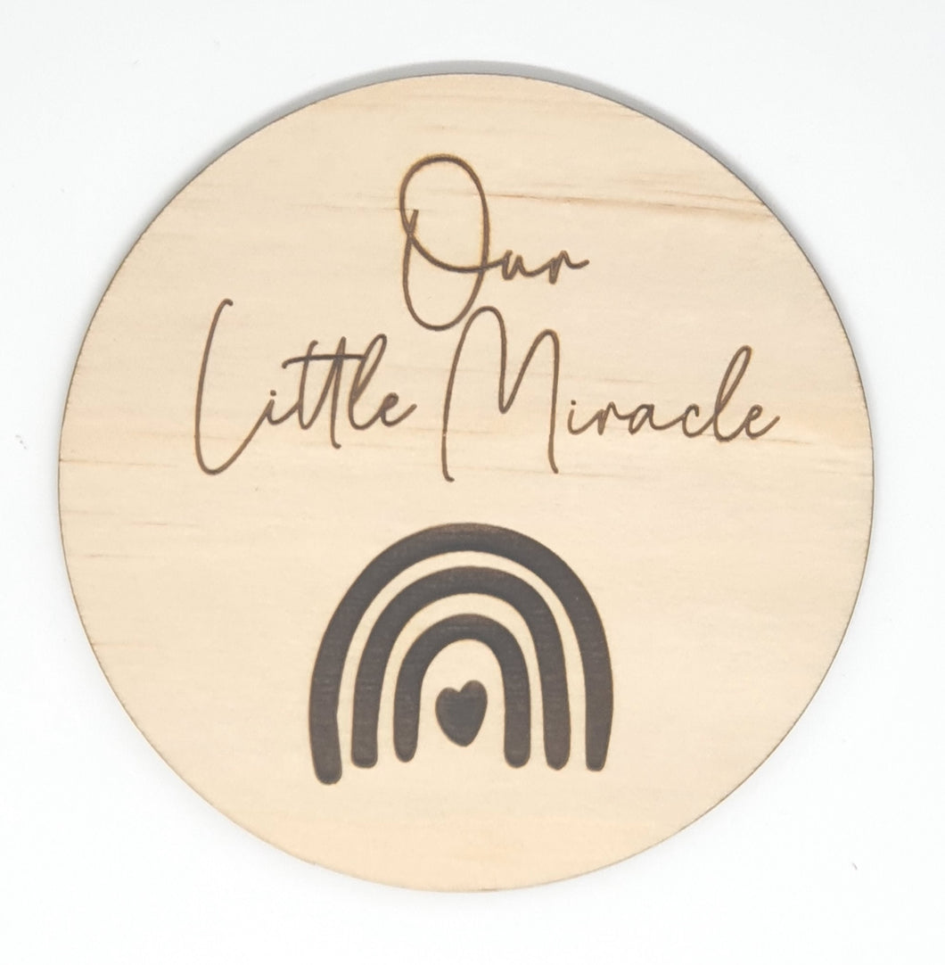 Our Little Miracle Milestone Disk